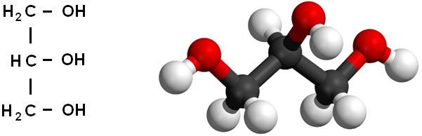 Структурная формула глицерина