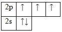 Энергетическая диаграмма для валентных электронов азота