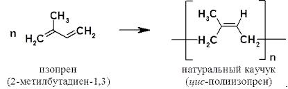 Структурная формула натурального каучука