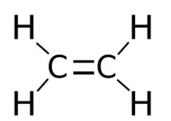 Строение молекулы этилена