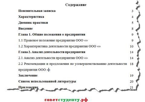 Структура отчет по практике 7492