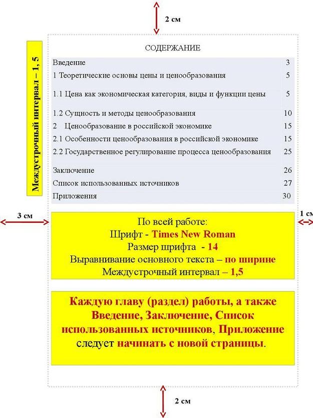 Правила оформления курсовой работы интервалы 3853